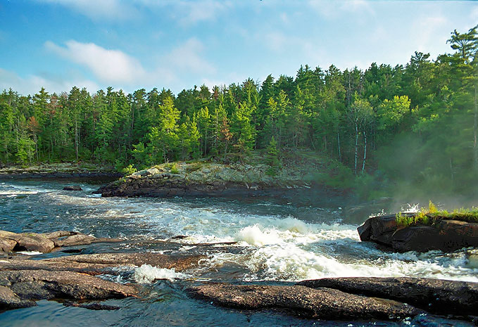 Curtain Falls, West End of Crooked Lake