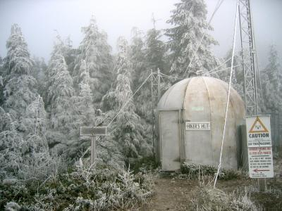 Frozen hikers hut