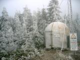 Frozen hiker's hut
