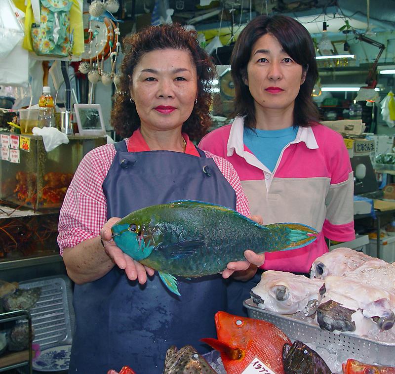 Fishmonger at the machigwa