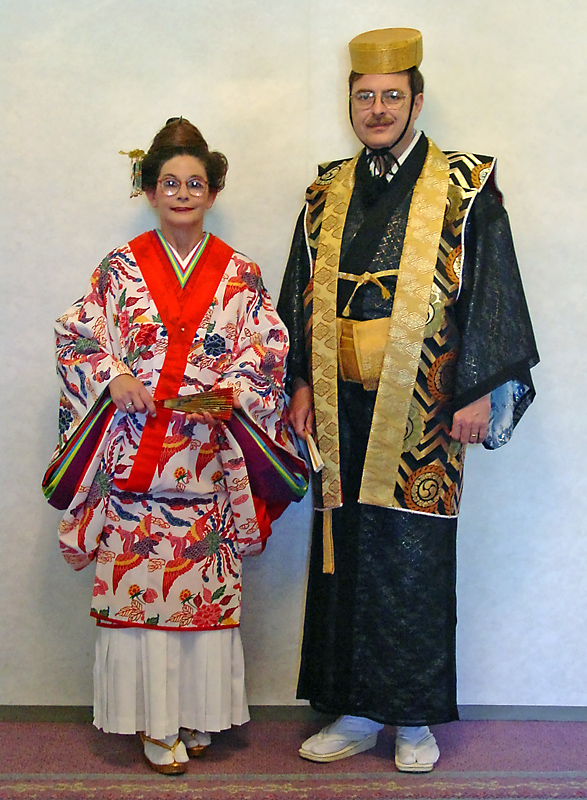 Dressed as Okinawan royalty