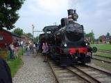 Steam train at Bandholm station