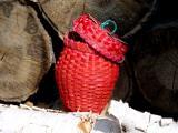 strawberry basket. ash splint weave