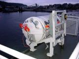 Over capacity life raft for Marin Ark chute system