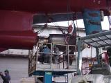 Checking the propellor shaft