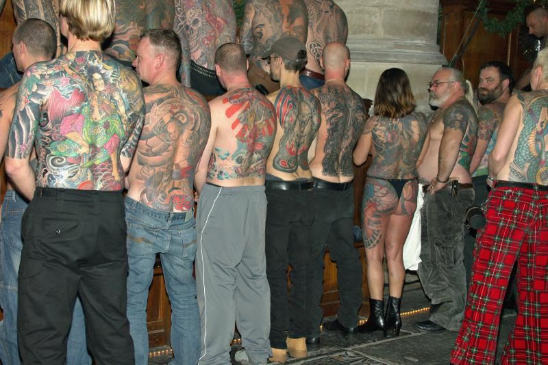 Back Pieces lining up for a panorama picture
