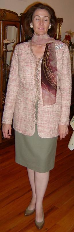 Eyelash Tweed Capri Jacket