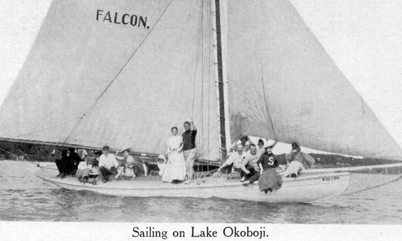 Falcon on Lake Okoboji