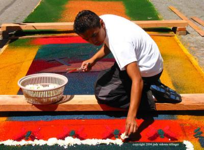 alfombra artist, antigua, guatemala