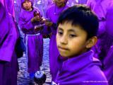 the boy at the procession, antigua, guatemala