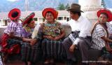 flirting before the procession, santiago atitlan, guatemala