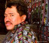 fabric seller, solala, guatemala
