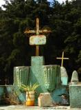 turquoise composition, sacatepequez cemetery, guatemala
