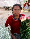 flower girl at the market, antigua, guatemala