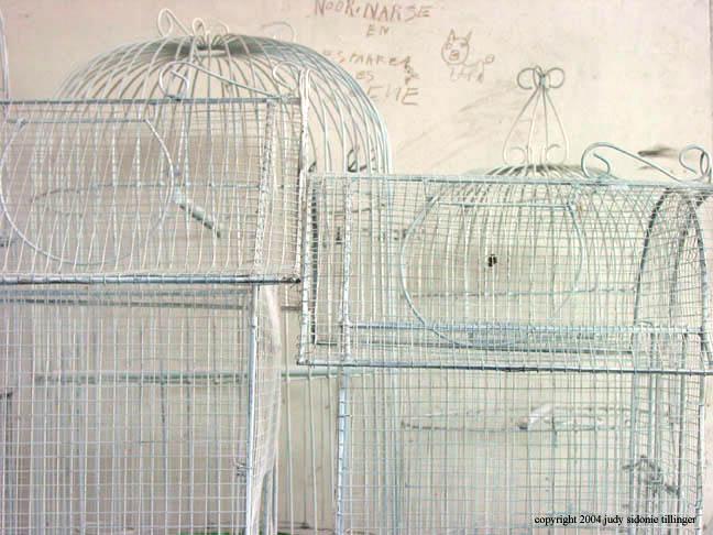 white on white cages, antigua, guatemala