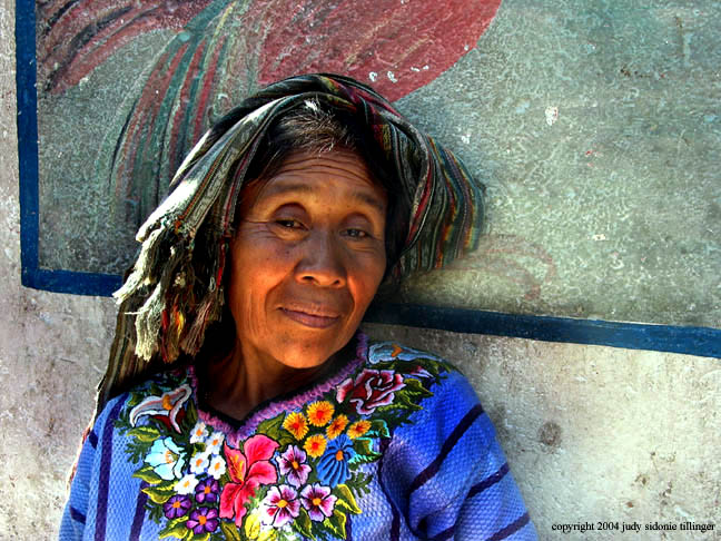 woman in the market, santiago atitlan, guatemala