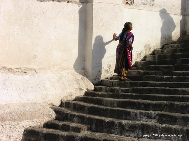 up the stairs, santiago atitlan, guatemala