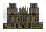 Yet more of the cathedral front, Wells Cathedral