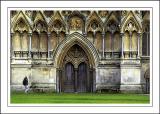 The front door, Wells Cathedral