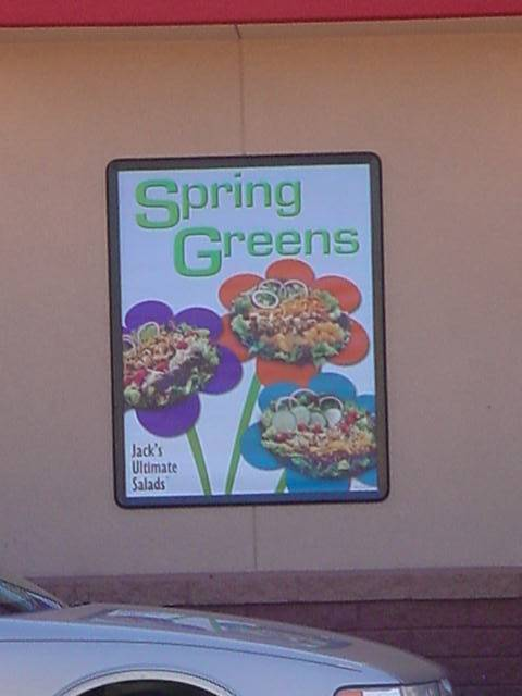 spring greens at<br> Jack in the Box