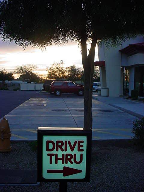 drive thru at<br> Jack in the Box