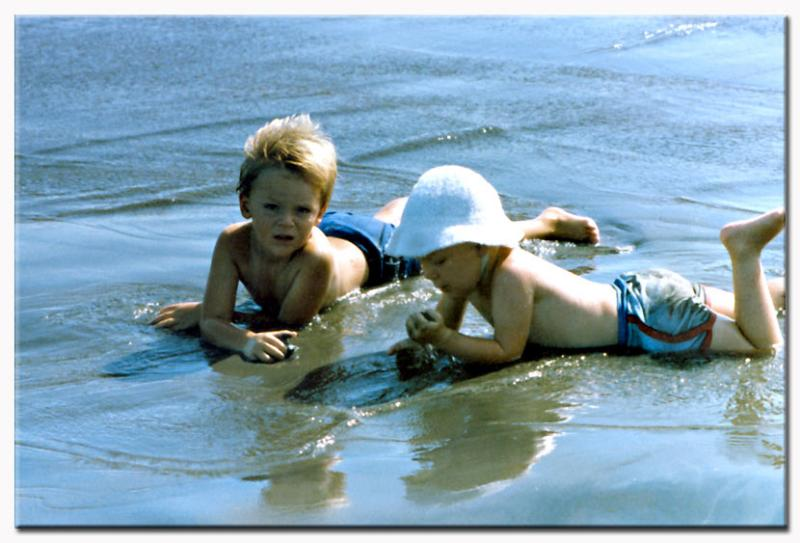 7 April 04 - James and Mike, Beach, Java, 1981