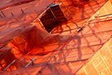 Orange scaffolding