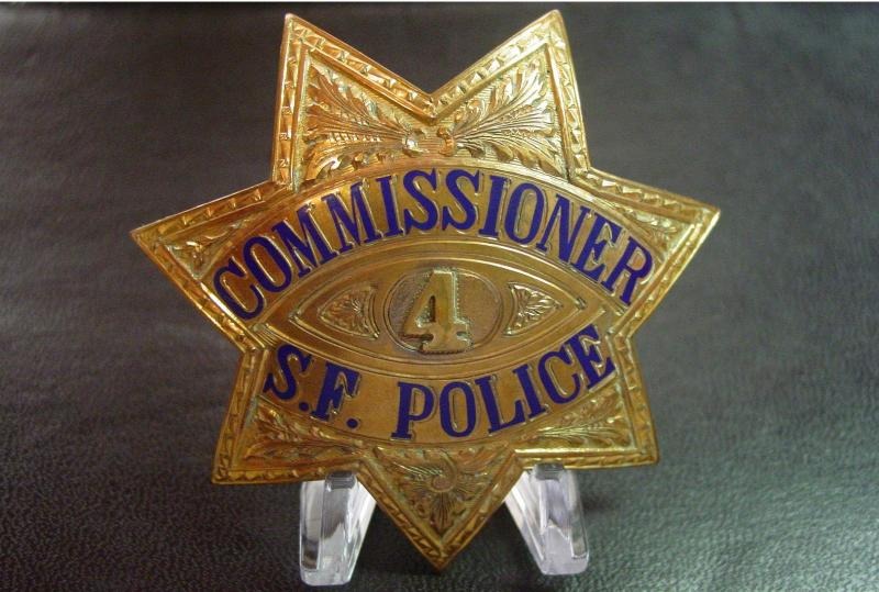 old style  sf commissioner  badge