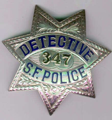 very rare sterling detective badge from the 1930s this rank was replaced with the title inspector