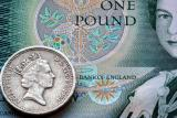 Pound Note and Coin