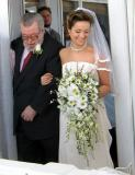 Here comes the bride, with grandfather Charles.