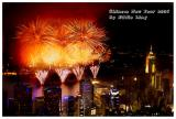 Chinese New Year fireworks over Victoria Harbour