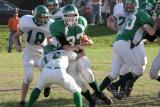 Evan Ekstrom running with the ball