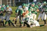 Jim Kvassay fighting for yards
