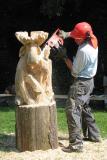 Moose carving