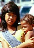 Girl & baby, Phnom Penh