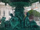 Brunnen auf dem Rossio-Platz
