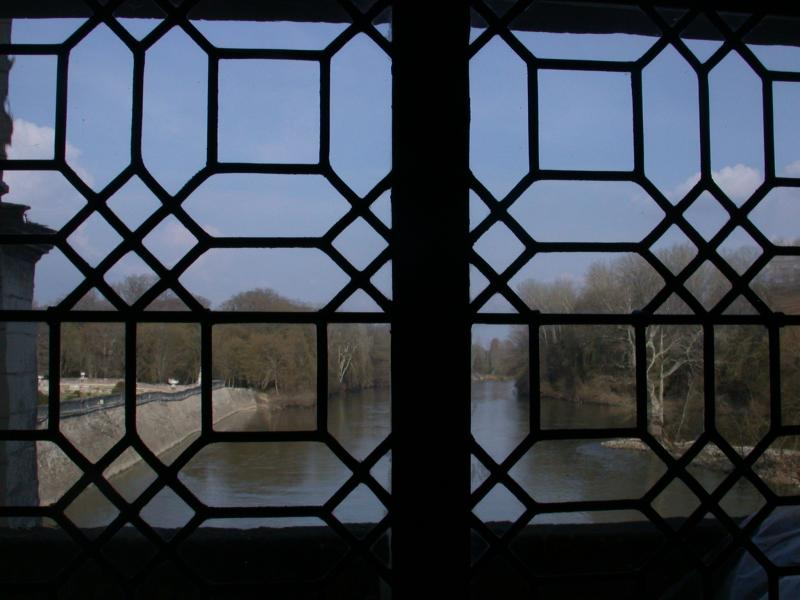 The River Cher Through the Window at Chenonceau