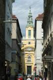 Church at the end of Plankengasse