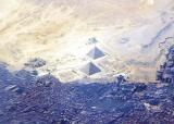 The Pyramids of Giza from 40,000 ft