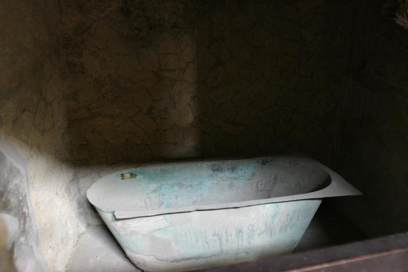 2000 year old bronze bath tub found in the excavation.