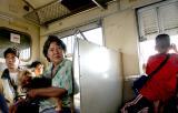 On the train to Ayutthaya