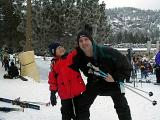 Ben and  his dad on a California ski trip