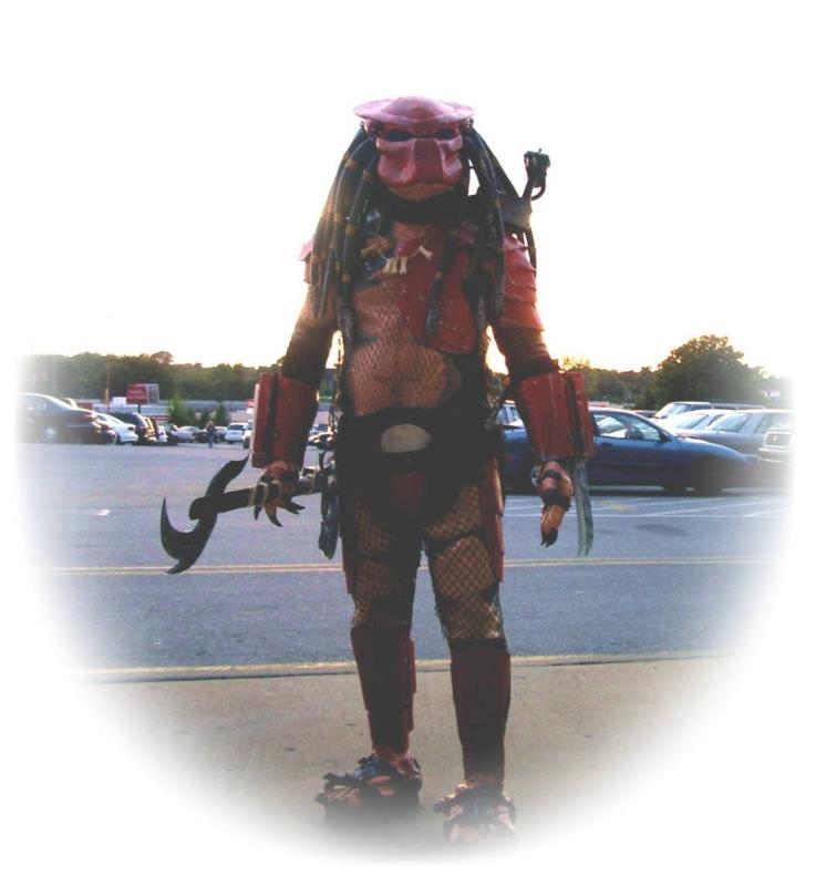 Skip in his Predator Costume