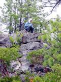Spectator on the rocks