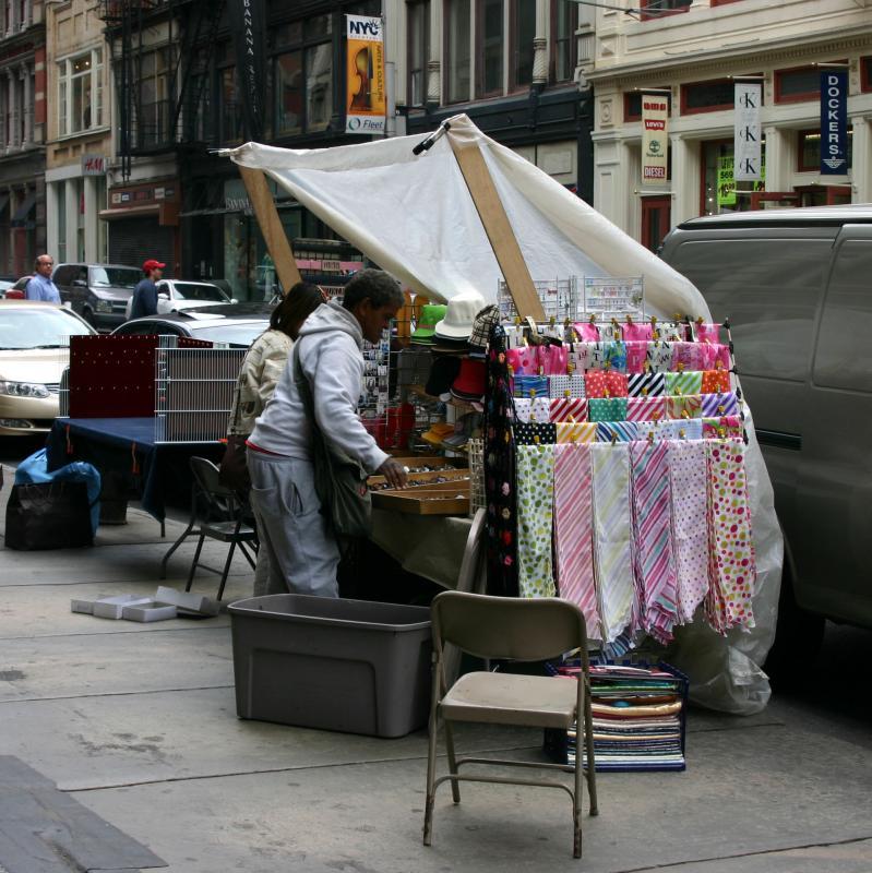 Setting up Street Stall
