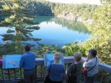 Pink lake in Gatineau park Quebec