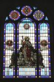 Stained glass window in United Church