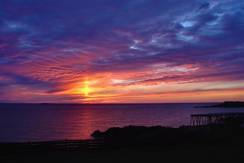 Sunset with Sun Pillar at Cape Bonavista<br>**WINNER**