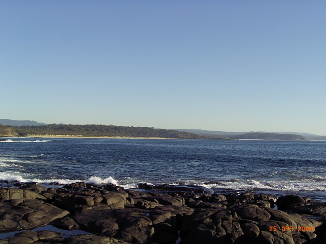 north point of wilinga beach
